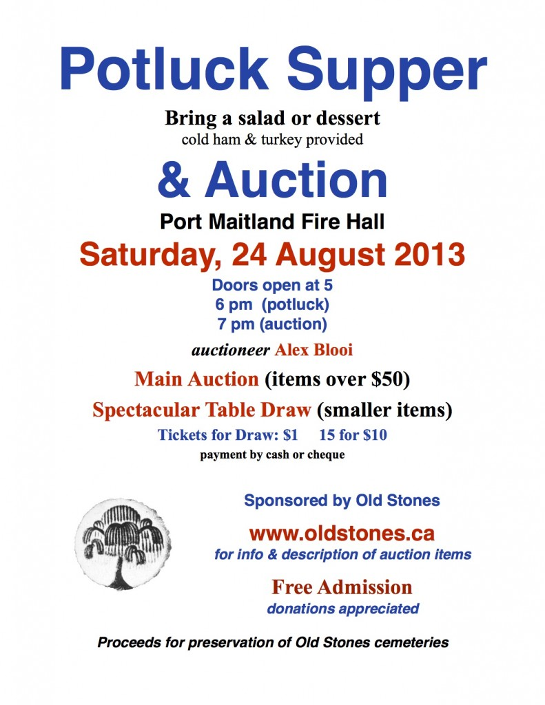 Potluck & Auction Poster 2013